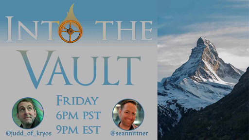 Into the Vault Thumbnail with faces and times and twitter handles